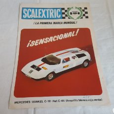 Scalextric: ANTIGUO FOLLETO CATALOGO MODEL MOTOR RACING MERCEDES WANKEL REF. C-44 DE SCALEXTRIC EXIN - AÑO 1971. Lote 212642932