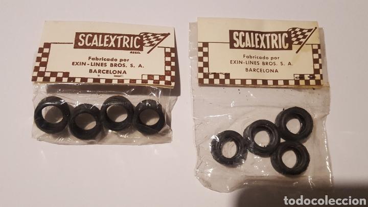 Scalextric: Lote con dos bolsas de 4 neumaticos Ref. 5177 y 5178 - 19 mm y 20 mm - Posche 917, Carrera S Lancia - Foto 3 - 212645956