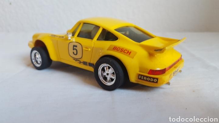 Scalextric: ANTIGUO COCHE - Scalextric - ORIGINAL EXIN Porsche 911 CARRERA RS REF 4051 AMARILLO -Muy buen estado - Foto 3 - 212687293