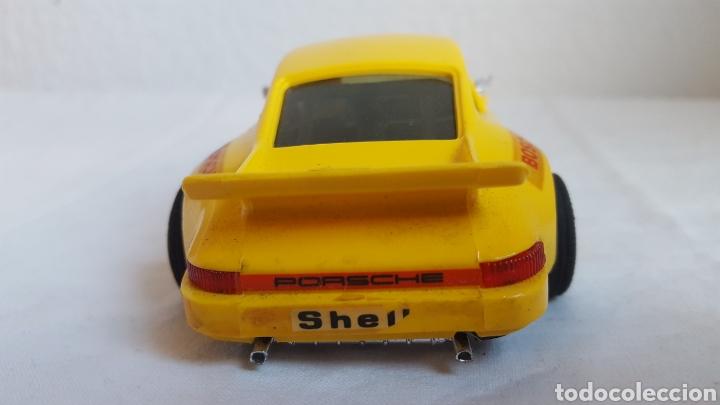 Scalextric: ANTIGUO COCHE - Scalextric - ORIGINAL EXIN Porsche 911 CARRERA RS REF 4051 AMARILLO -Muy buen estado - Foto 4 - 212687293