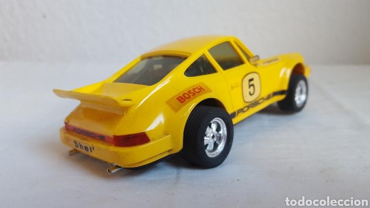 Scalextric: ANTIGUO COCHE - Scalextric - ORIGINAL EXIN Porsche 911 CARRERA RS REF 4051 AMARILLO -Muy buen estado - Foto 5 - 212687293