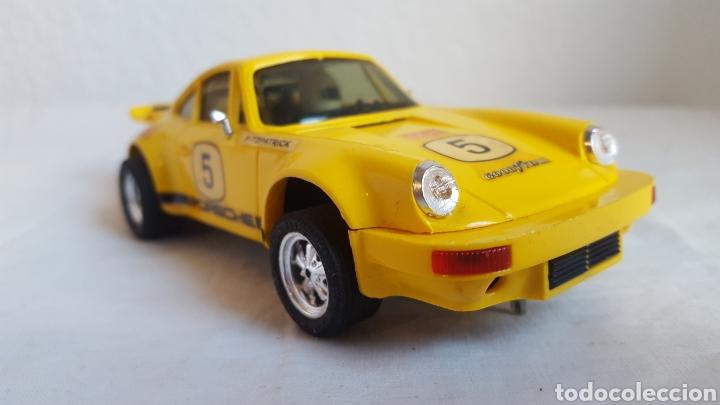 Scalextric: ANTIGUO COCHE - Scalextric - ORIGINAL EXIN Porsche 911 CARRERA RS REF 4051 AMARILLO -Muy buen estado - Foto 7 - 212687293