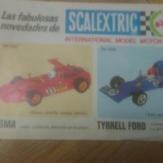 Scalextric: SCALEXTRIC. 1974. NOVEDADES SIGMA Y TYRRELL FORD. Lote 212944557
