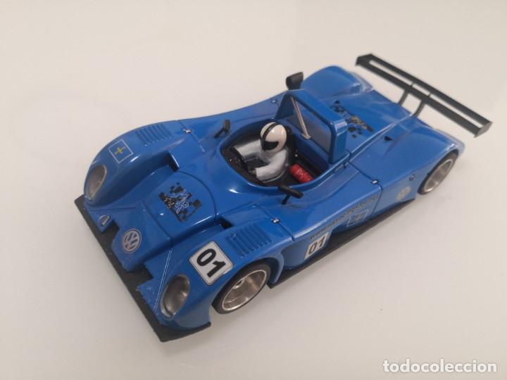 REYNARD 2KQ DECORACIÓN MR RACING SLOT SPIRIT VW VOLKSWAGEN AZUL SCALEXTRIC (Juguetes - Slot Cars - Scalextric Exin)