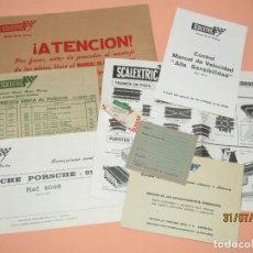 Scalextric: ANTIGUO SOBRE CON DOCUMENTACIÓN DEL CIRCUITO G.T.L. 30 DE SCALEXTRIC EXIN DEL AÑO 1975. Lote 213617898