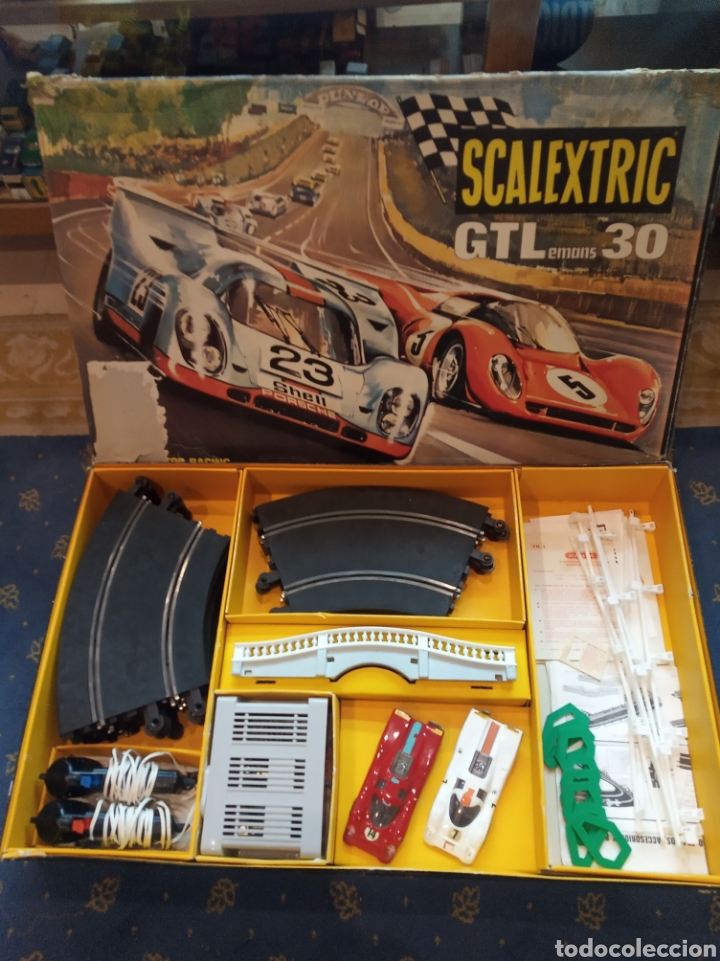 SCALEXTRIC GT LEMANS 30. 2 PORSCHE 917 ROJO Y BLANCO. MUY COMPLETO. (Juguetes - Slot Cars - Scalextric Exin)