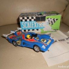 Scalextric: COCHE SCALEXTRIC EXIN ORIGINAL ALPINE 2000 TURBO AZUL REF 4053 CON CAJA TODO ORIGINAL. Lote 240428280