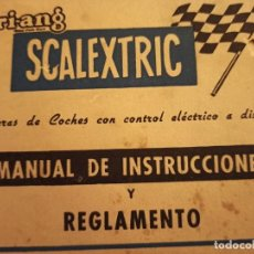 Scalextric: SCALEXTRIC MANUAL INSTRUCCIONES. Lote 217567073