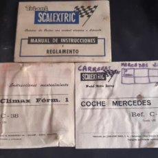 Scalextric: MANUAL E INSTRUCCIONES DE MANTENIMIENTO DE COOPER CLIMAX Y MERCEDES 250. Lote 219211161