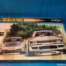 Scalextric: SCALEXTRIC EXIN SUECIA REF. 8010, CON CAJA ORIGINAL.- FALTAN LOS COCHES. Lote 221006415