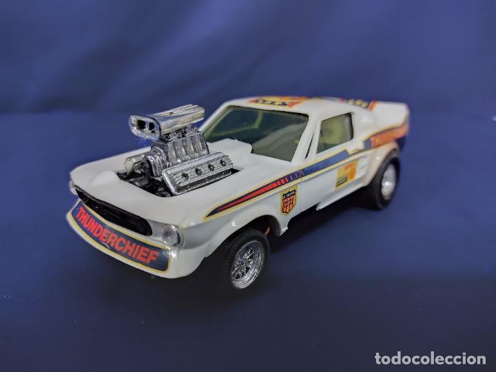 FORD MUSTANG DRAGSTER BLANCO, SCALEXTRIC REF 4049 (Juguetes - Slot Cars - Scalextric Exin)