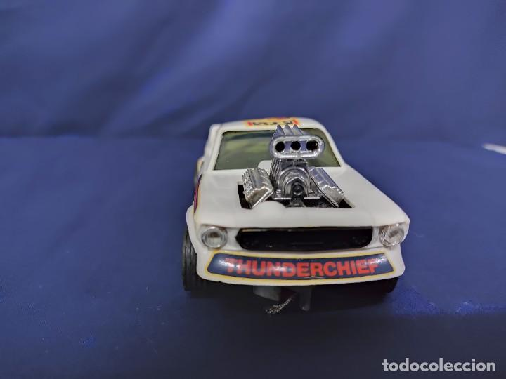 Scalextric: FORD MUSTANG DRAGSTER BLANCO, SCALEXTRIC REF 4049 - Foto 2 - 221454537