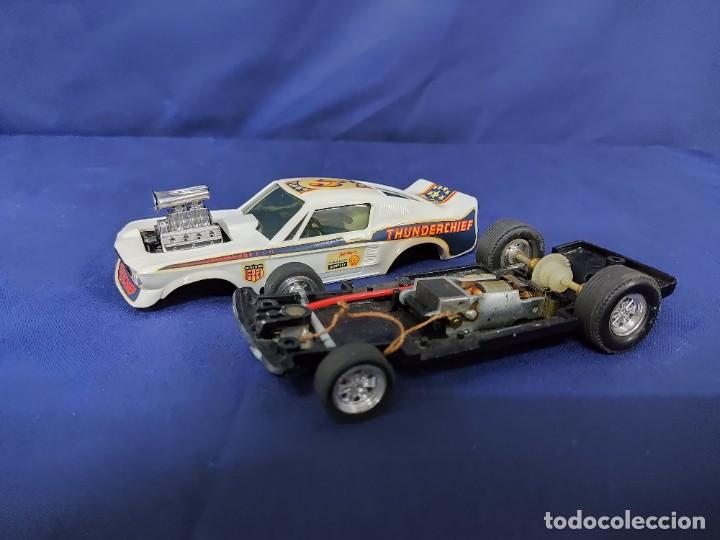 Scalextric: FORD MUSTANG DRAGSTER BLANCO, SCALEXTRIC REF 4049 - Foto 7 - 221454537