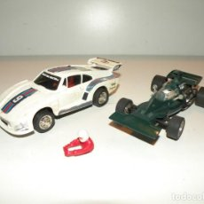 Scalextric: PAR DE COCHES SCALEXTRIC (TYRRELL FORD Y PORSCHE 935) EXIN MADE IN SPAIN -SIN MOTOR-. Lote 221506420