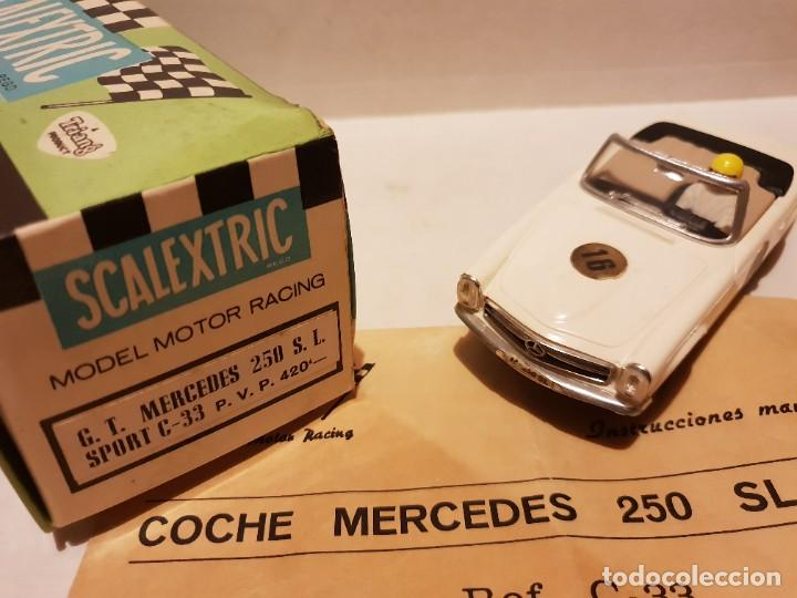 MERCEDES 250 S.L C-33 CON CAJA E INSTRUCCIONES ORIGINALES ETIQUETAS CON DISTINTA SERIGRAFIA (Juguetes - Slot Cars - Scalextric Exin)