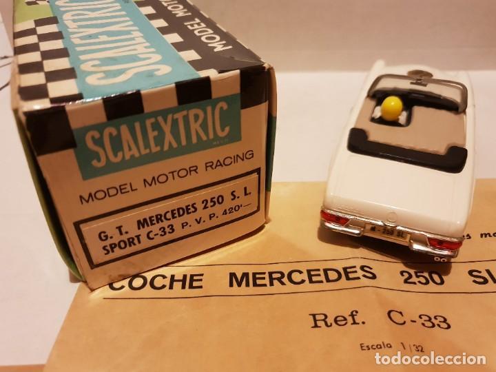 Scalextric: MERCEDES 250 S.L C-33 CON CAJA E INSTRUCCIONES ORIGINALES ETIQUETAS CON DISTINTA SERIGRAFIA - Foto 2 - 222092835