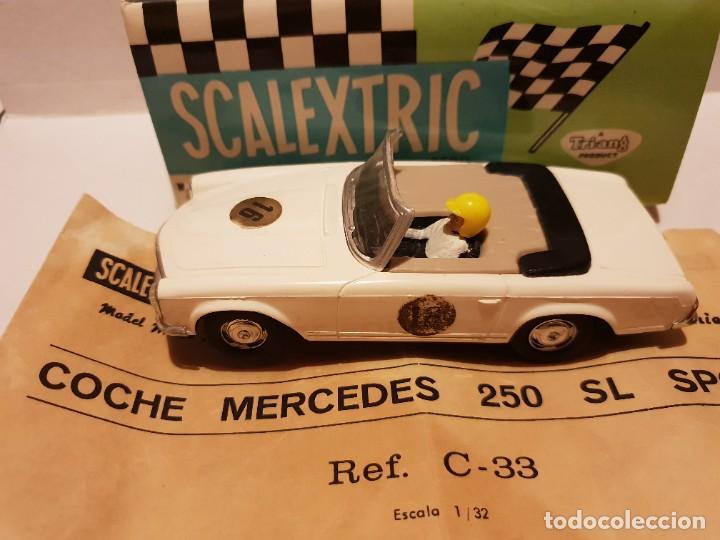Scalextric: MERCEDES 250 S.L C-33 CON CAJA E INSTRUCCIONES ORIGINALES ETIQUETAS CON DISTINTA SERIGRAFIA - Foto 3 - 222092835