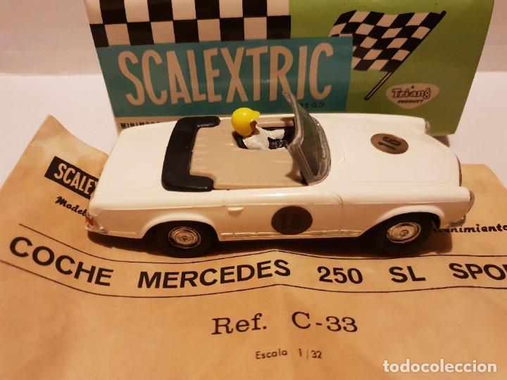 Scalextric: MERCEDES 250 S.L C-33 CON CAJA E INSTRUCCIONES ORIGINALES ETIQUETAS CON DISTINTA SERIGRAFIA - Foto 4 - 222092835