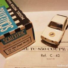 Scalextric: SEAT T.C. 850 COUPE ABARTH DE PRIMERA REF.- C-42 CON CAJA E INSTRUCCIONES ORIGINALES. Lote 222092871