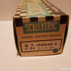 Scalextric: CAJA JAGUAR E REF.- C-34. Lote 222092987
