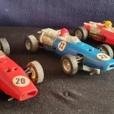 Scalextric: LOTE ANTIGUOS 3 COCHES HONDA REF C-36 Y BRM REF- 37 SCALEXTRIC MADE IN SPAIN DE EPOCA. Lote 222664570