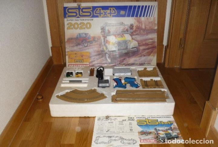 STS SCALEXTRIC 2020 4X4. COMPLETO. CON DOS COCHES JEEP. EXIN. PEGATINAS Y CALCAS SIN USAR (Juguetes - Slot Cars - Scalextric Exin)