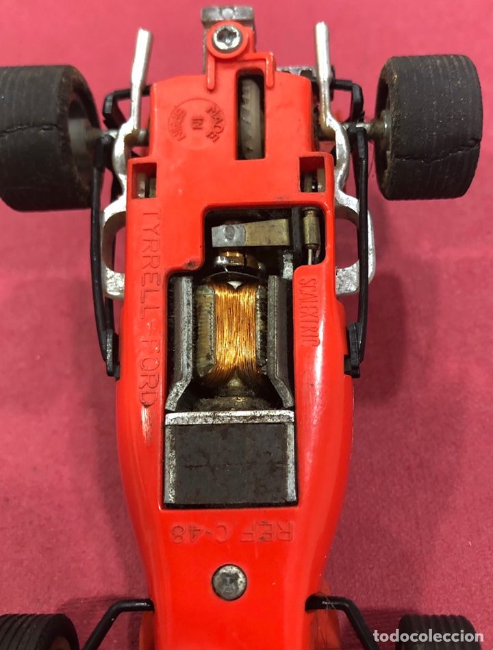 Scalextric: Antiguo coche de scalextric Ford Tyrrell. Ref. C 48 - Foto 9 - 223341853