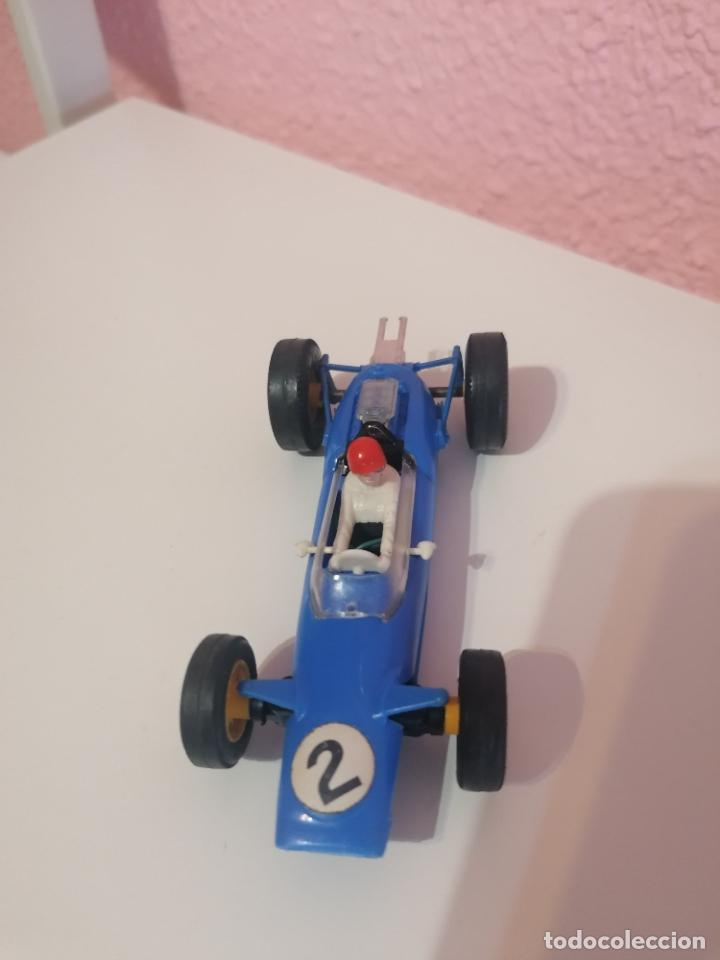 Scalextric: Scalextric tri ang made in England c 82 lotus azul claro - Foto 3 - 224580242