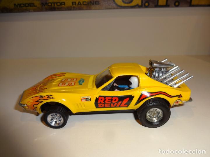 Scalextric: Scalextric. Exin. Chevrolet Corvette Amarillo. Ref. 4050 - Foto 3 - 225990132