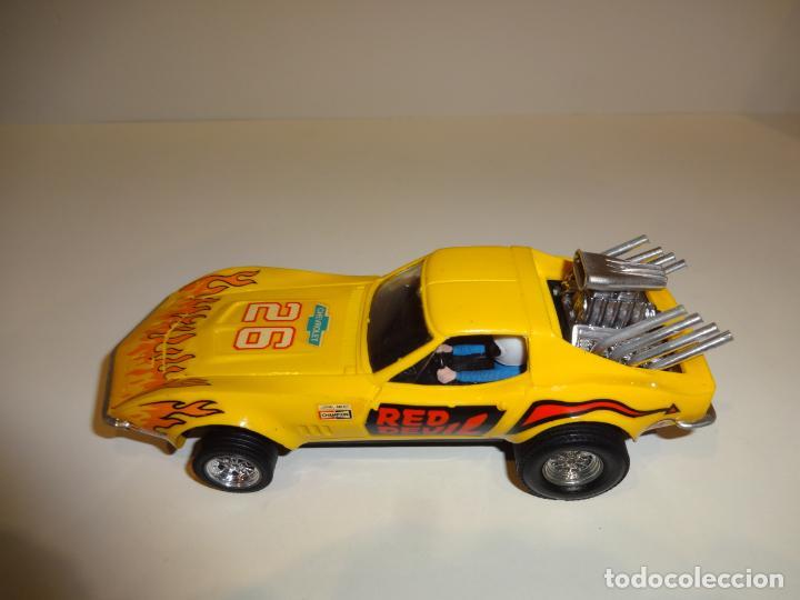 Scalextric: Scalextric. Exin. Chevrolet Corvette Amarillo. Ref. 4050 - Foto 4 - 225990132