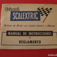 Scalextric: SCALEXTRIC TRI-ANG. MANUAL DE INSTRUCCIONES Y REGLAMENTO.. Lote 228536555