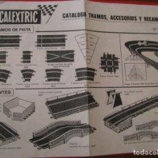Scalextric: FOLLETO, CATALOGO TRAMOS Y ACCESORIOS NÚMERO 9ª EDICION DE SCALEXTRIC EXIN. Lote 228538950