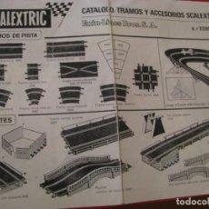 Scalextric: FOLLETO, CATALOGO TRAMOS Y ACCESORIOS NÚMERO 6ª EDICION DE SCALEXTRIC EXIN. Lote 228539005
