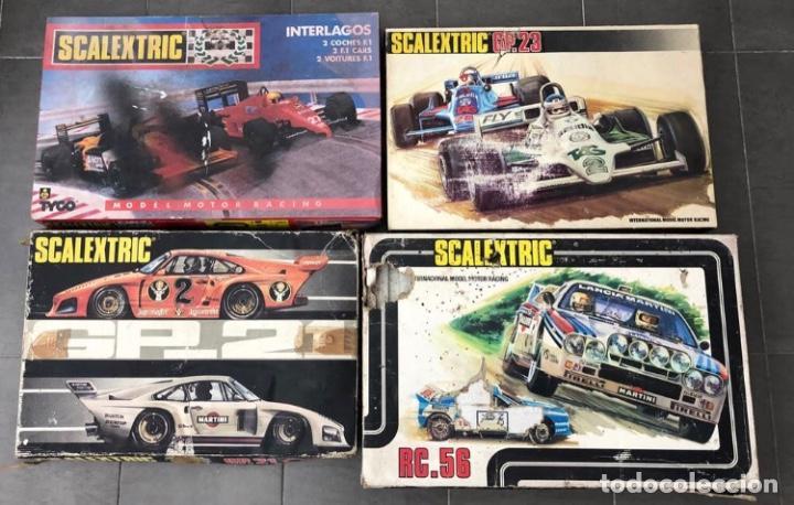 SCALEXTRIC EXIN LOTE DE 4 CAJAS VACIAS ORIGINALES. SOLO ENTREGO EN MANO, NO SE ENVIA (Juguetes - Slot Cars - Scalextric Exin)