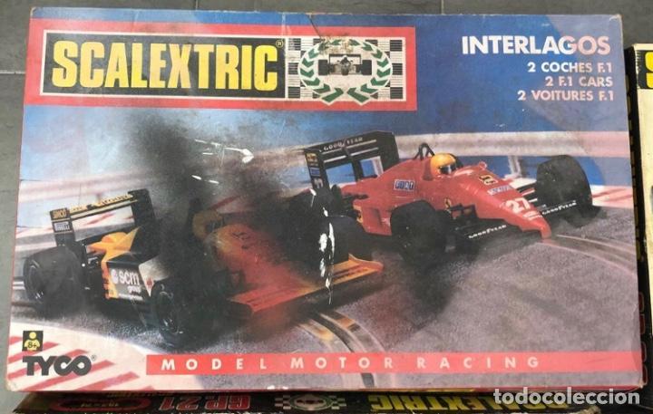 Scalextric: SCALEXTRIC EXIN LOTE DE 4 CAJAS VACIAS ORIGINALES. SOLO ENTREGO EN MANO, NO SE ENVIA - Foto 4 - 230461985