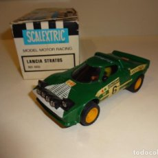 Scalextric: SCALEXTRIC. EXIN. LANCIA STRATOS VERDE 1º SERIE. REF. 4055. Lote 232991395