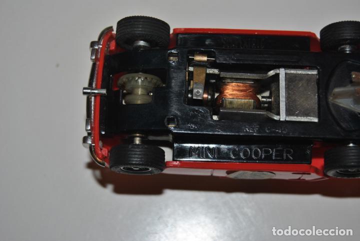 Scalextric: MINI COOPER ROJO CLARO SCALEXTRIC EXIN REF C-45 MADE IN SPAIN CON CAJA ORIGINAL Y MANTENIMIENTO - Foto 4 - 233873270
