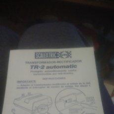Scalextric: SCALEXTRIC. INSTRUCCIONES RECTIFICADIR TRANSFORMADOR. TR 2. VER FOTOS.. Lote 233912090
