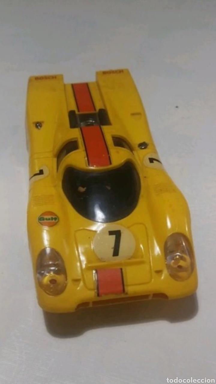 PORSCHE SCALEXTRIC VINTAGE COLOR AMARILLO (Juguetes - Slot Cars - Scalextric Exin)