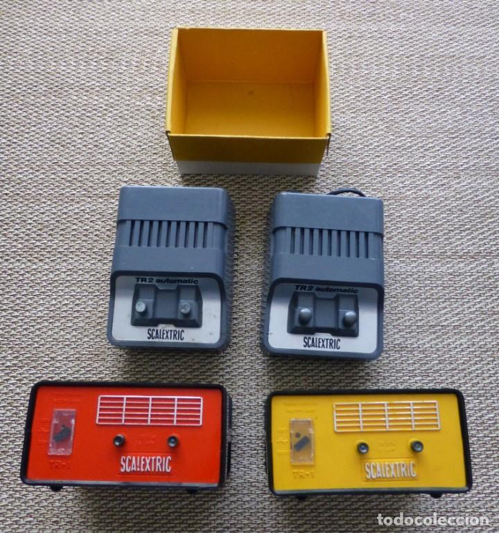 LOTE 4 TRANSFORMADORES SCALEXTRIC EXIN TR2 Y TR1 (Juguetes - Slot Cars - Scalextric Exin)