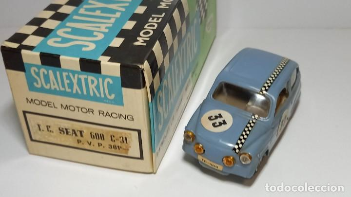 SEAT 600 AZUL SCALEXTRIC EXIN (Juguetes - Slot Cars - Scalextric Exin)