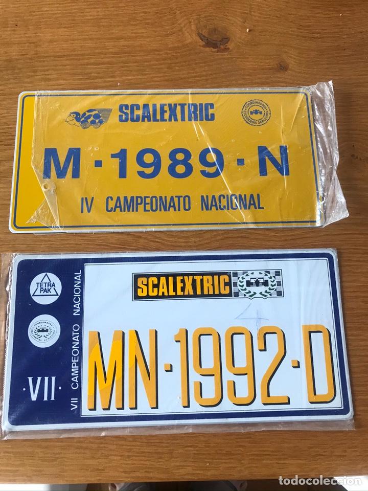 PLACAS ORIGINALEE SCALEXTRIC DE CAMPEONATO NACIONAL (Juguetes - Slot Cars - Scalextric Exin)