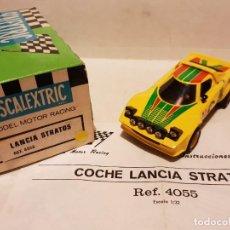 Scalextric: SCALEXTRIC LANCIA STRATOS REF.-4055 DE EXIN CON CAJA E INSTRUCCIONES. Lote 236474365