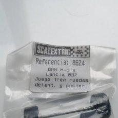 Scalextric: SLOT SCALEXTRIC EXIN JUEGO TREN RUEDAS DELANTERO Y POSTERIOR BMW M1 Y LANCIA 037. Lote 236713800