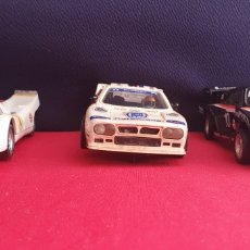 Scalextric: LOTE DE 3 COCHES SCALEXTRIC LANCIA RALLY 037 Y PORSHE CARRERA R S Y PORSHE 917 TAL. Lote 237321295