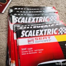 Scalextric: COLECCIÓN DE FASCIULOS DE SEAT SPORT SCALEXTRIC INCOMPLETA. Lote 237980720