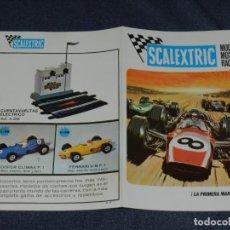 Scalextric: (M) CATALOGO SCALEXTRIC MODEL MOTOR RACING 1969 , ILUSTRADO. Lote 238590430