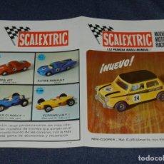 Scalextric: (M) FOLLETO MINI-COOPER REF C-45 , SCALEXTRIC, 2 HOJAS ILUSTRADO, AÑOS 70.,. Lote 238590800