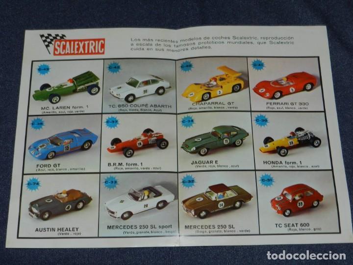 Scalextric: (M) FOLLETO MINI-COOPER REF C-45 , SCALEXTRIC, 2 HOJAS ILUSTRADO, AÑOS 70., - Foto 2 - 238590800