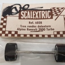 Scalextric: ALPINE RENAULT 2000 TURBO BLISTER TREN RUEDAS DELANTERO REFERENCIA 6028 SCALEXTRIC EXIN. Lote 240734650